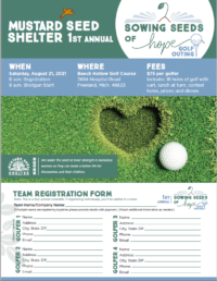 2021 Mustard Seed Golf Outing Flyer